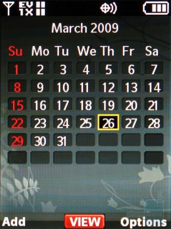 Calendar - Nokia 7205 Intrigue Review