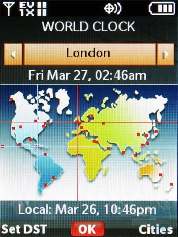 World clock - Nokia 7205 Intrigue Review