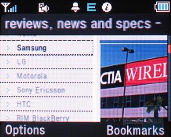 Web browser - Pantech Slate Review