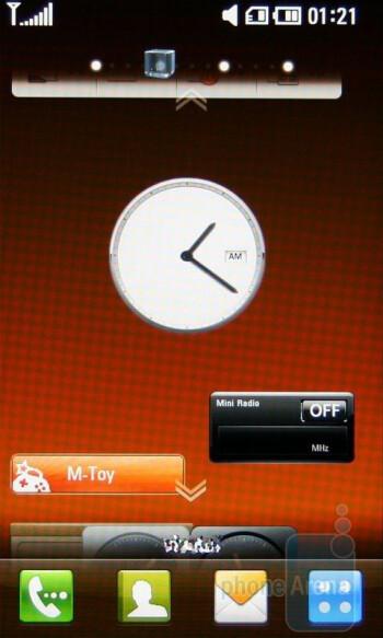 Shortcut and widget screens - LG ARENA Preview