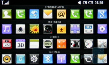 Main menu - LG ARENA Preview