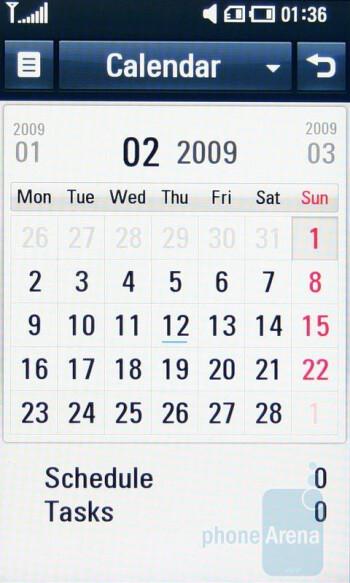 Calendar - LG ARENA Preview
