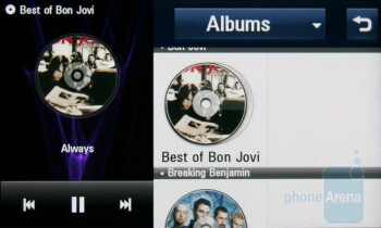 Music player - LG ARENA Preview