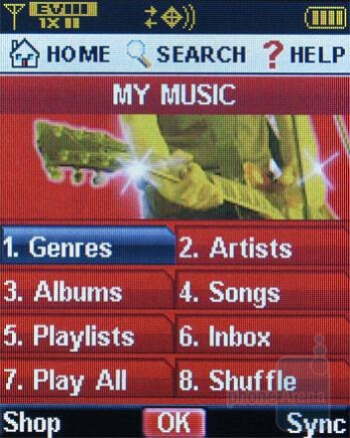 Music Player - Verizon Wireless CDM8975 Review