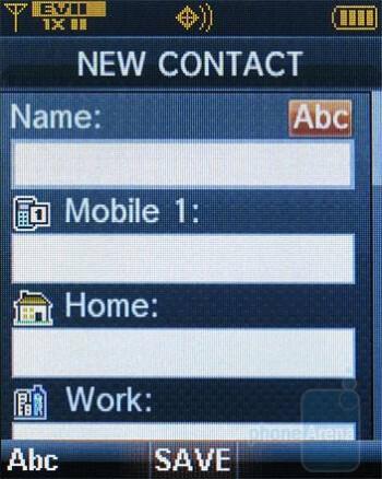 Adding a contact - Verizon Wireless CDM8975 Review