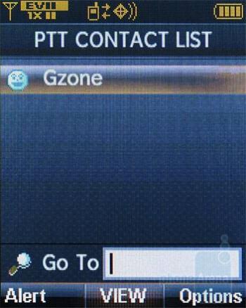 PTT Contacts - Verizon Wireless CDM8975 Review