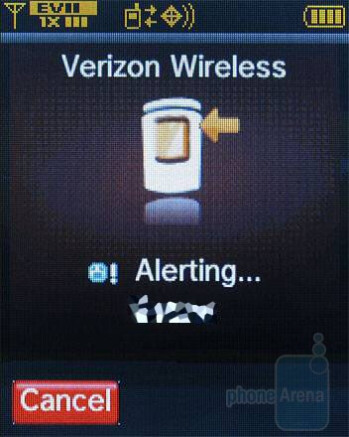 Making a PTT call (main display) - Verizon Wireless CDM8975 Review