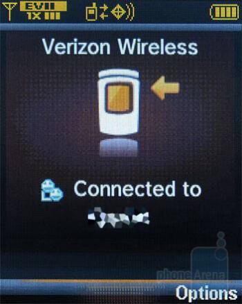 Making a PTT call (main display) - Verizon Wireless CDM8975 Review