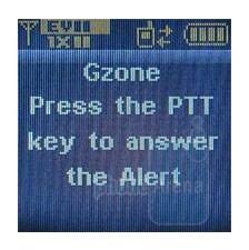Receiving a PTT call (external display) - Verizon Wireless CDM8975 Review