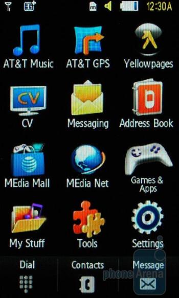 Main menu - Samsung Impression Review