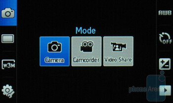 Camera interface - Samsung Impression Review