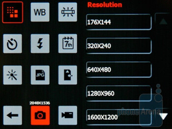 Camera interface - Acer DX900 Review