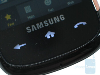 Touch-sensitive buttons - Samsung Instinct s30 Review