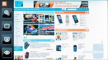 The Instinct s30 ships with Opera Mini - Samsung Instinct s30 Review