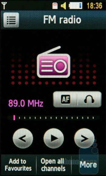 FM Radio - Music Player - Samsung UltraTOUCH S8300 Review