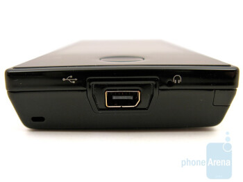 The miniUSB port at the bottom - HTC Touch Diamond CDMA Review