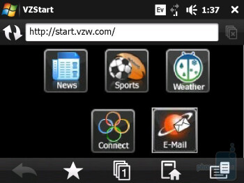 HTC Touch Diamond uses Opera Mobile 9.5 Internet browser - HTC Touch Diamond CDMA Review