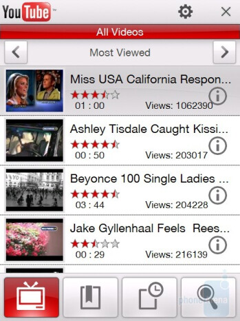 YouTube player - HTC Touch Diamond CDMA Review