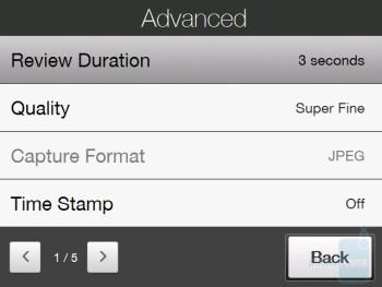 Camera settings - HTC Touch Diamond CDMA Review