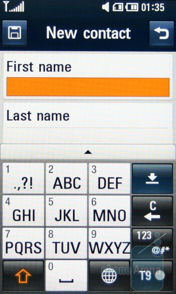 The Phonebook interface of LG ARENA KM900 - LG ARENA KM900 Review