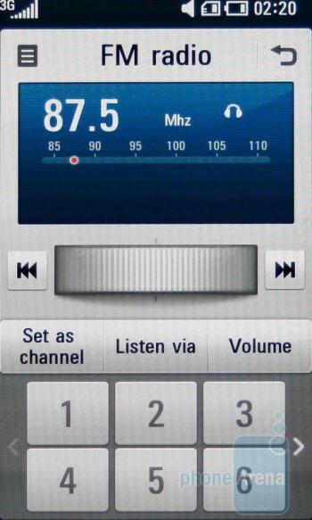 FM Radio - LG ARENA KM900 Review