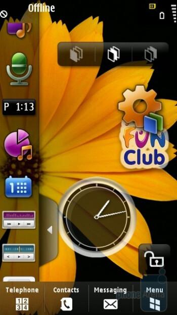Home screen - Samsung OMNIA HD i8910 Review