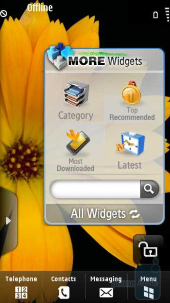 Widget for downloading more Widgets - Samsung OMNIA HD i8910 Review