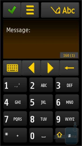 The virtual keypads of the Samsung OMNIA HD i8910 - Samsung OMNIA HD i8910 Review