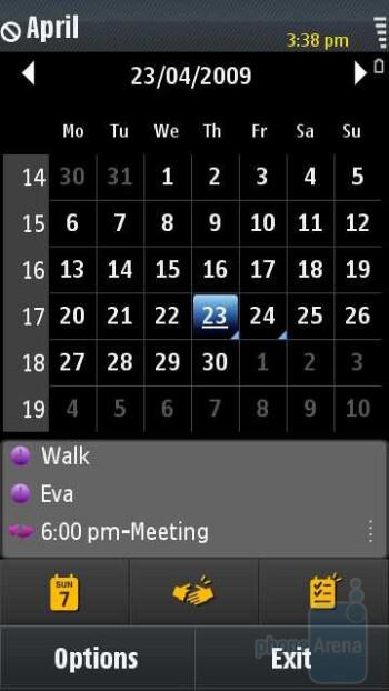 Calendar - Samsung OMNIA HD i8910 Review