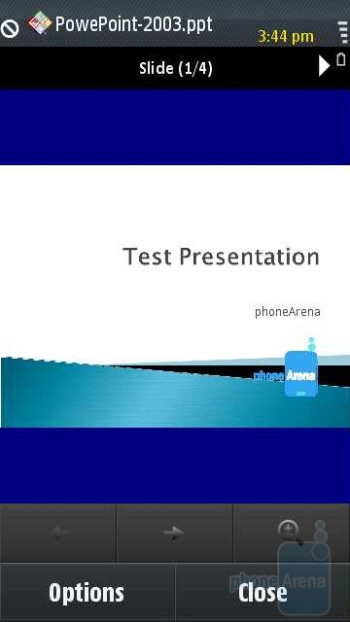 PowerPoint - Samsung OMNIA HD i8910 Review