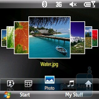 Photo - Wizpro home screen on the Samsung Propel Pro i627 - Samsung Propel Pro i627 Review