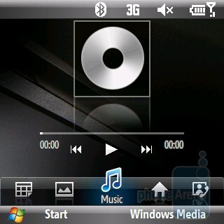 Music - Wizpro home screen on the Samsung Propel Pro i627 - Samsung Propel Pro i627 Review