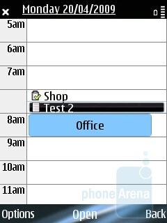 Calendar - Nokia E75 Review