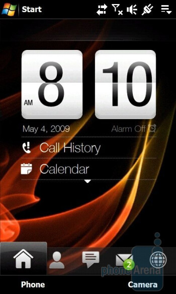 Home screen - HTC Touch Diamond2 Review