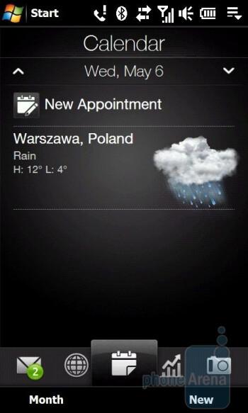 Calendar - HTC Touch Diamond2 Review