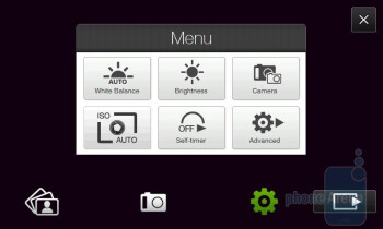 Camera interface - HTC Touch Diamond2 Review