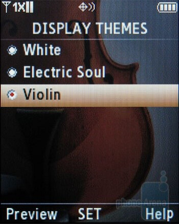 The Samsung Trance U490 got 3 themes and 3 styles for the main menu - Samsung Trance U490 Review