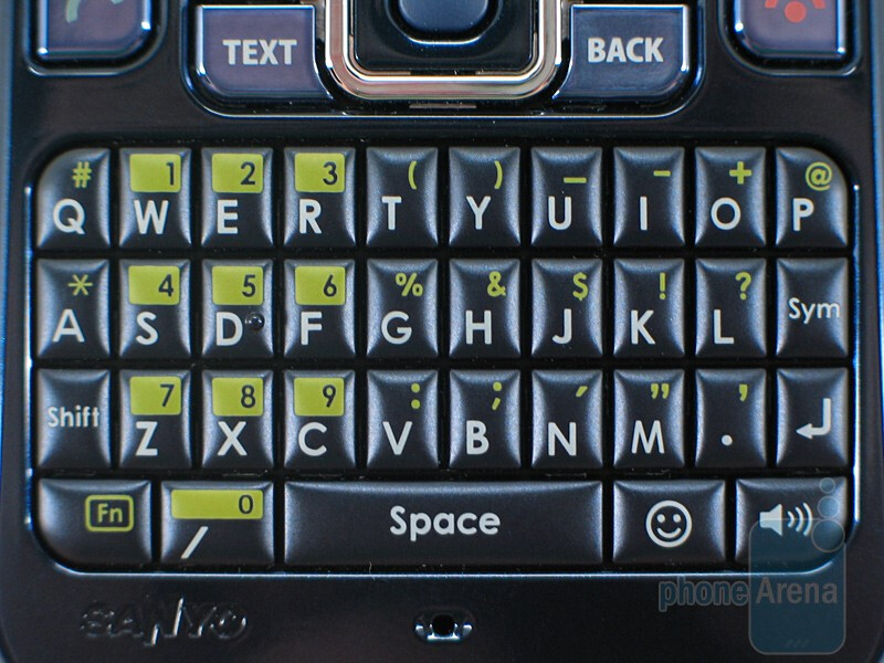The keyboard performs quite well - Sanyo SCP-2700 Review
