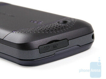 The M2 memory card slot on the top - Sony Ericsson W395 Review