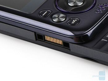 The charger port on the left side - Sony Ericsson W395 Review