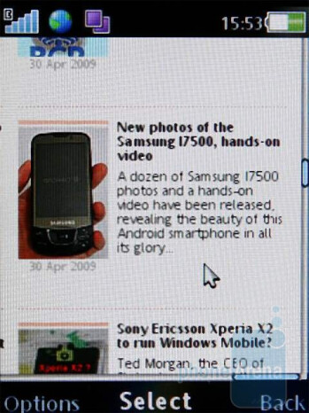 The Sony Ericsson C510 is suitable for web browsing - Sony Ericsson C510 Review