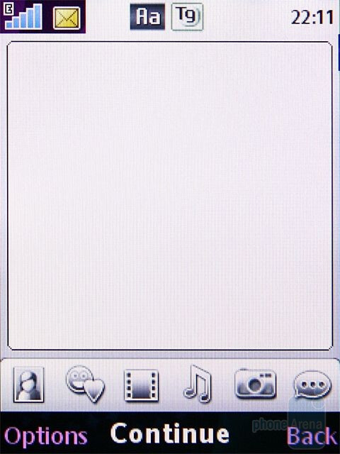 Messaging - Sony Ericsson T707 Preview