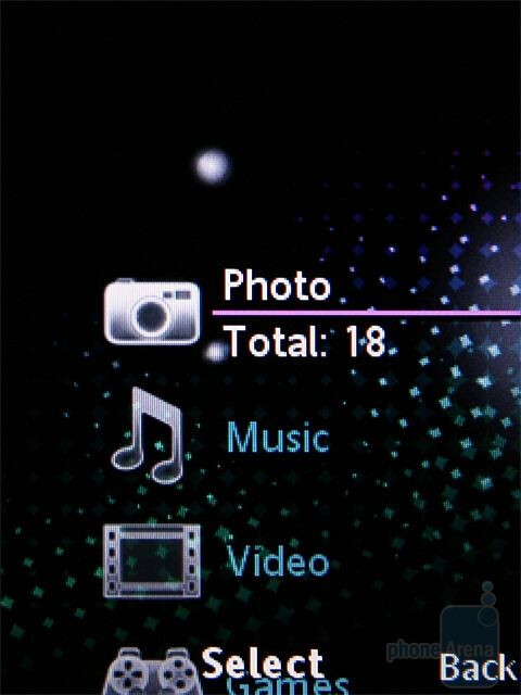 Media menu - Sony Ericsson T707 Preview