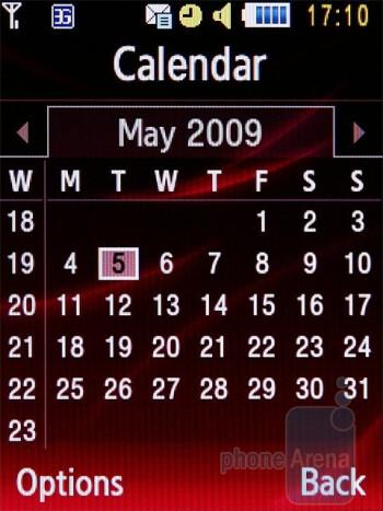 Calendar - Samsung Ultra B S7220 Review