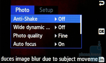 Camera interface - Samsung Ultra S S7350 Review