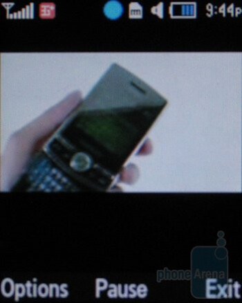 Playing videos on the Samsung SGH-a657 - Samsung SGH-a657 Review