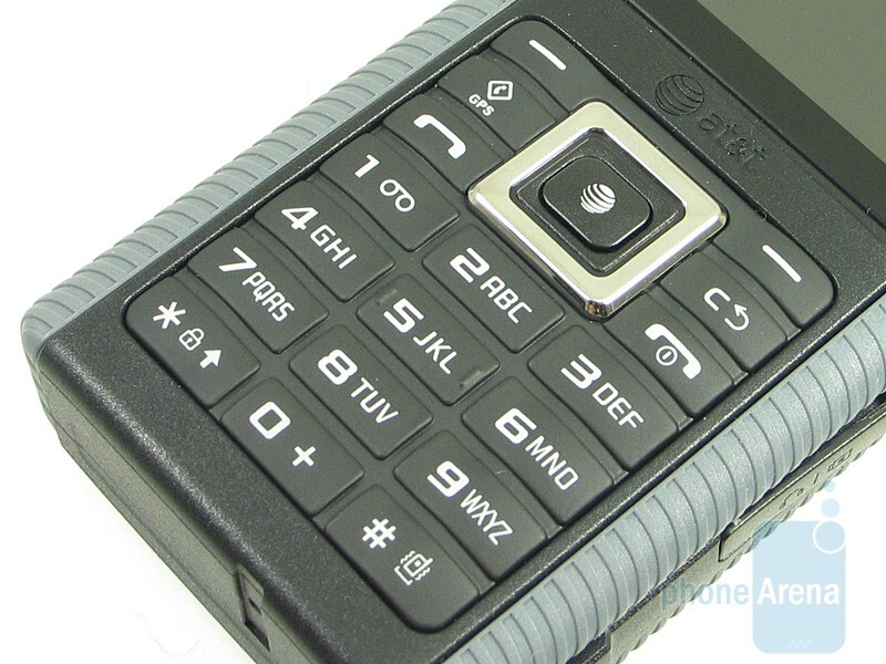 The keyboard and navigation pad of the Samsung SGH-a657 - Samsung SGH-a657 Review