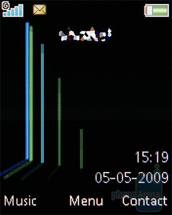 Home screen - Sony Ericsson W302 Review