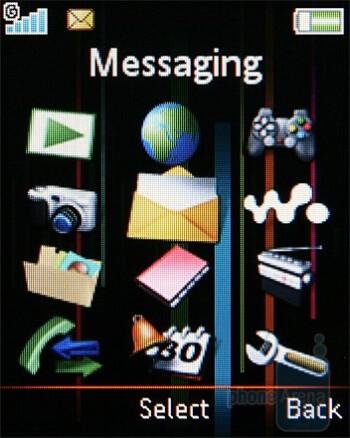 Main menu - Sony Ericsson W302 Review