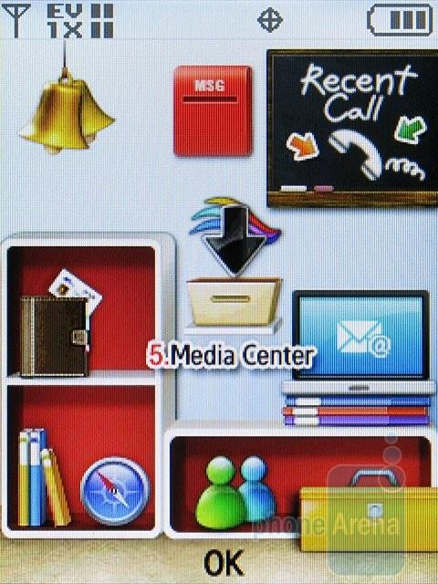 My Place theme - The different themes of the Samsung Alias 2 U750 - Samsung Alias 2 U750 Review